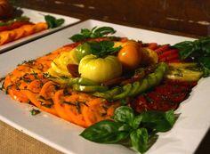End of season heirloom tomatoes make a fantastic accompaniment to the meal