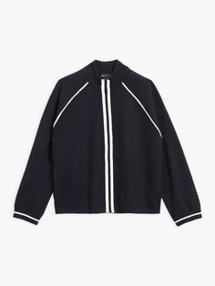 blouson seven bleu marine en maille Bleu Marine, Adidas Jacket, Athletic, Zip, Jackets, Collection, Fashion, Down Vest, Down Jackets