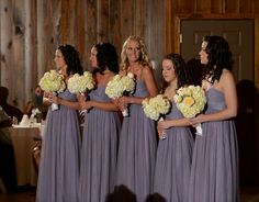 "Wtoo style 337 bridesmaid dresses in ""heather"" a.k.a. dusty lavender"