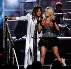 Steven Tyler and Carrie....so awesome
