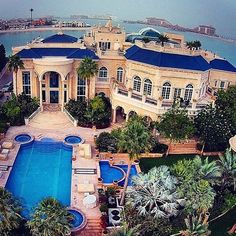 Exuberant Luxury Waterfront Grand #WhiteandBlue Mansion