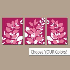 Arte de la pared CORAL fotos de dormitorios hojas de por TRMdesign