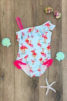 Pink Flamingo One Piece Swimsuit