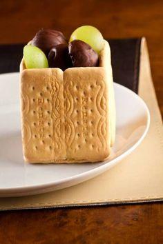 Torta de uvas com mousse de chocolate branco