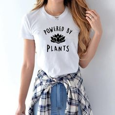 Vegan POWERED BY PLANTS T Shirt for Women