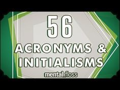 56 Acronyms and Initialisms - mental_floss Teacher Hacks, Teacher Humor, Writing Words, Writing Prompts, False Friends, Grammar Tips, Word Nerd, Interesting Information, Favorite Words