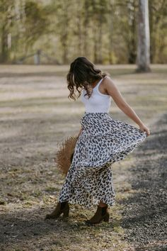 Our Leopard Maxi comes in two lengths. Regular for our Short was Girls and Tall for our Tall Gals. Pair with a basic and chuck on some boots and away you go! It comes in One Size which fits sizes and our girl Ashley wears the regular length and is tall. Leopard Maxi Skirts, Our Girl, Roads, Girls, How To Wear, Collection, Fashion, Little Girls, Moda