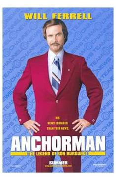 Anchorman the Legend of Ron Burgundy Movie Poster (11 x 17)