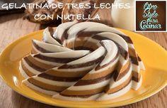 GELATINA DE TRES LECHES CON NUTELLA(R)