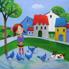 "Saatchi Art Artist Iwona Lifsches; Painting, ""Ulla's Blue Easter, SOLD"" #art"