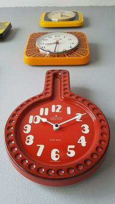 Classic vintage red Fat Lava West German Céramique Horloge murale par JUNGHANS | eBay Wall, Ebay