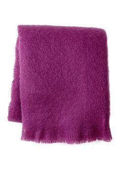 Mohair Throw - Ultra Violet on @HauteLook
