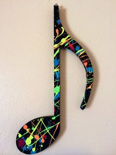 Splatter painted music note. A great gift for by AbbeysArtwork, $12.99