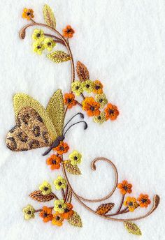 Machine Embroidery Designs at Embroidery Library! - On Sale Best Embroidery Machine, Embroidery Shop, Types Of Embroidery, Free Machine Embroidery Designs, Hand Embroidery, Embroidery Suits, Embroidery Works, Embroidery Designs Free Download, Butterfly Embroidery