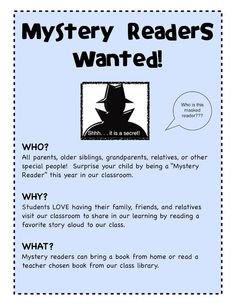 At Back to School Night – I always have a Mystery Reader Sign-up. This is one of those ideas that if you aren't doing it – you should start this year! A Mystery Reader is a surprise visit from a family member (moms, dads, grandparents, siblings, uncles, aunts, etc). They bring a favorite picture book …