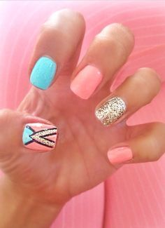 In seek out some nail designs and ideas for the nails? Here's our list of 39 must-try coffin acrylic nails for fashionable women. Get Nails, Fancy Nails, Pretty Nails, Hair And Nails, Nail Designs 2015, Cool Nail Designs, Pedicure Designs, Gel Designs, Manicure Ideas