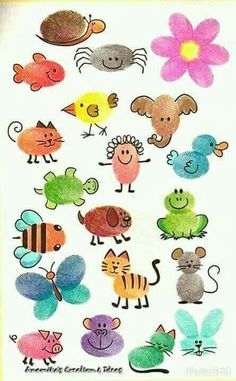Fingerfarbe Tiere Fingerfarbe Tiere – The post Fingerfarbe Tiere appeared first on Ruby Sanders. Art For Kids, Crafts For Kids, Arts And Crafts, Paper Crafts, Fingerprint Crafts, Thumb Prints, Hand Art, Business Gifts, Animal Paintings