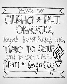 sketch I made for Katherine's fraternity • alpha phi omega • APO • APhiO • service fraternity