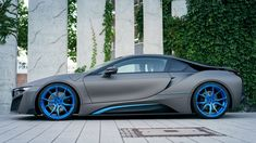 BMW i8 Wrapped in Matte Gray Gets One-Off Photo Session | BMWCoop