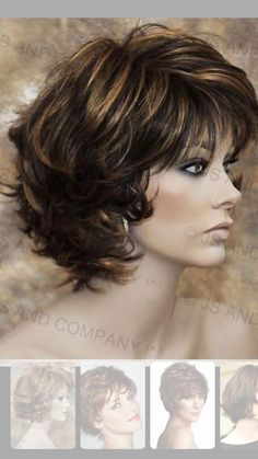 layered curly hair - Das schnste Bild fr haarschnitt id. Layered Curly Hair, Short Hair With Layers, Short Curly Hair, Short Hair Cuts, Short Wavy, Medium Hair Cuts, Medium Hair Styles, Curly Hair Styles, Colored Hair Tips