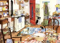 AGA ('Farm Kitchen' by Tracy Hall)