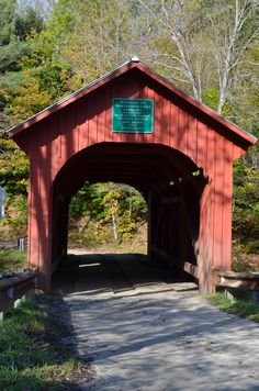 Covered Bridge in Northfield, Vermont