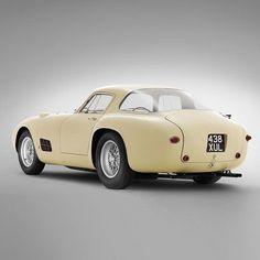 "1955 Ferrari 410 Berlinetta Special. The original Championship White ""Chaste White"""