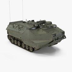 assault amphibious vehicle aav7 3D model