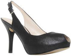 Nine West Hansel Peep Toe Court Shoes, Black
