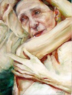 "Saatchi Online Artist: Maria Teresa Crawford Cabral; Oil, 2012, Painting ""pina bausch"""