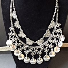 Boho Statement Necklace  NWOT -- Gorgeous silver Statement Necklace Jewelry Necklaces