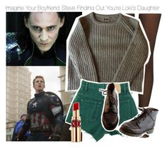 """Imagine Your Boyfriend Steve Finding Out You're Loki's Daughter"" by xdr-bieberx ❤ liked on Polyvore"
