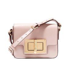 Lacattura® Mega Twist Lock Box Leather Crossbody Bag- Baby Pink