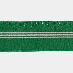 1x1 ribb 6x80cm hulleff. grønn/hvit 1stk
