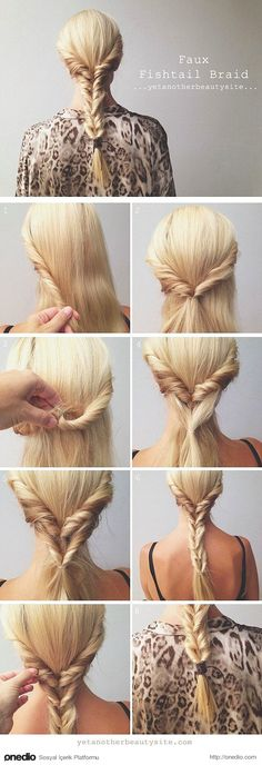 Stunning No-Heat Hairstyles To Help You Through Summer Cheat the fishtail braid with this alternative.Cheat the fishtail braid with this alternative. No Heat Hairstyles, Hairstyles Haircuts, Pretty Hairstyles, Summer Hairstyles, Wedding Hairstyles, Mermaid Hairstyles, Fishtail Hairstyles, Romantic Hairstyles, Amazing Hairstyles