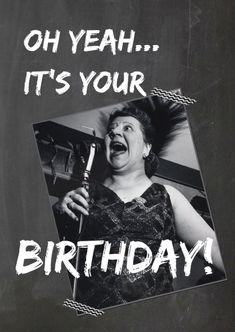 Een vrolijke vintage verjaardagskaart voor de jarige. Je kunt de tekst nog aanpassen. Have a nice day!