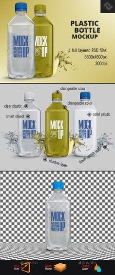 Plastic Water Bottle Mockup. Download here: http://graphicriver.net/item/plastic-water-bottle-mockup/16205956?ref=ksioks