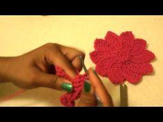 Flor de Pascua -Tutorial de tejido crochet flower (in a foreign language)