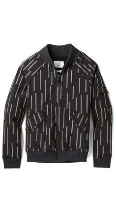AXS Folk Technology Tech Varsity Jacket $400