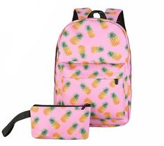 Printed Combo Backpack and Small Bag