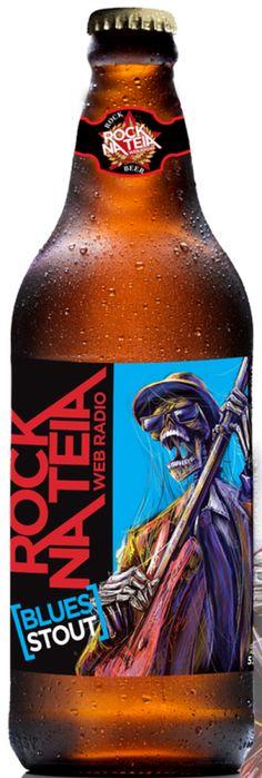 Cerveja Rock na Teia Blues Stout, estilo Russian Imperial Stout, produzida por Cervejaria Dortmund, Brasil. 5.5% ABV de álcool.
