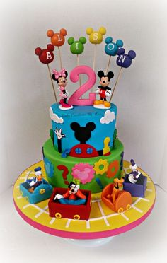 Mickey, Minnie, and friends birthday cake