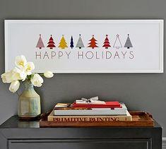 Happy Holidays Print #potterybarn