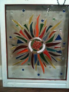 Stained Glass Sunburst by TexasBornDesigns on Etsy, $100.00