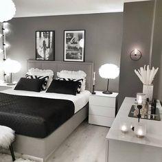 Best 27 Room Decor Bedroom Design Ideas For Your Inspiration Grey Bedroom Decor, Room Design Bedroom, Stylish Bedroom, Room Ideas Bedroom, Small Room Bedroom, Home Bedroom, Silver Bedroom, Master Bedroom, Minimalist Bedroom