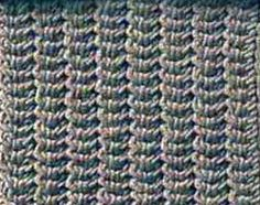 Knitting Galore: Saturday Stitch: Herringbone Stitch.