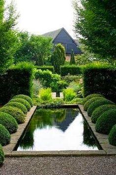 Garden reflecting pool.