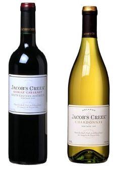 Jacob's Creek Shiraz Cabernet and Chardonnay
