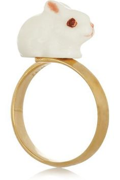 + Nach gold-plated porcelain ring #accessories #covetme #finds