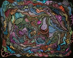 """Saatchi Online Artist: Linda Lovenstein; Pen and Ink 2013 Drawing """"Aquatic"""""""